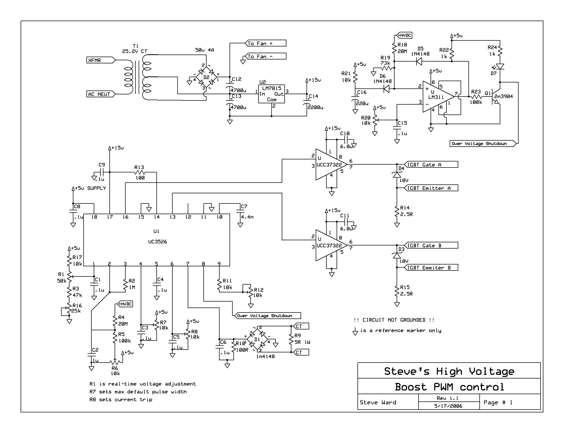 12kw Pfc Boost Converter Circuit Diagram Of A Typical Power Factor Correction Schematics For The Pwm And Low Voltage Section