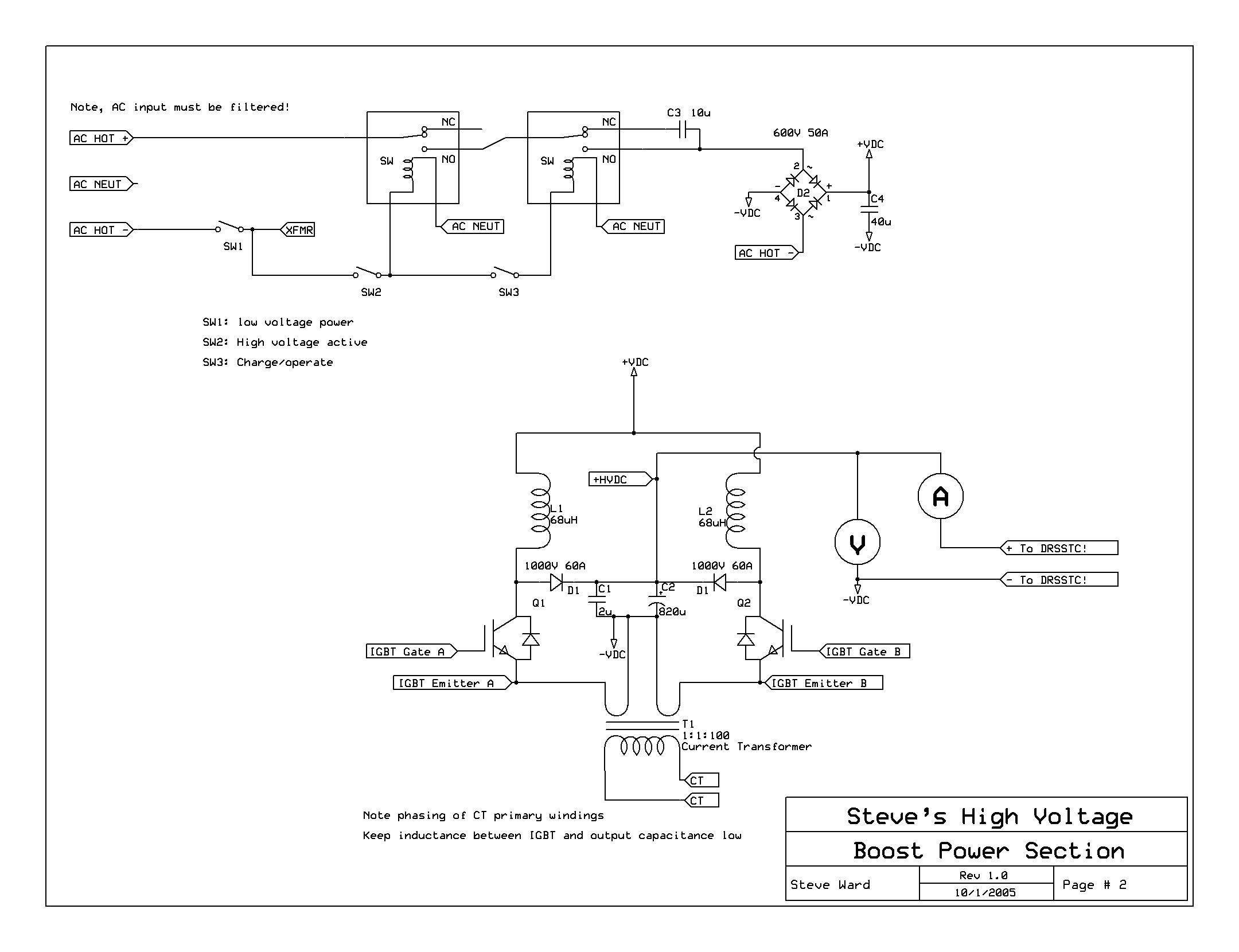 12kw Pfc Boost Converter Circuit Diagram Of A Typical Power Factor Correction Schematics For The Input And High Voltage Section