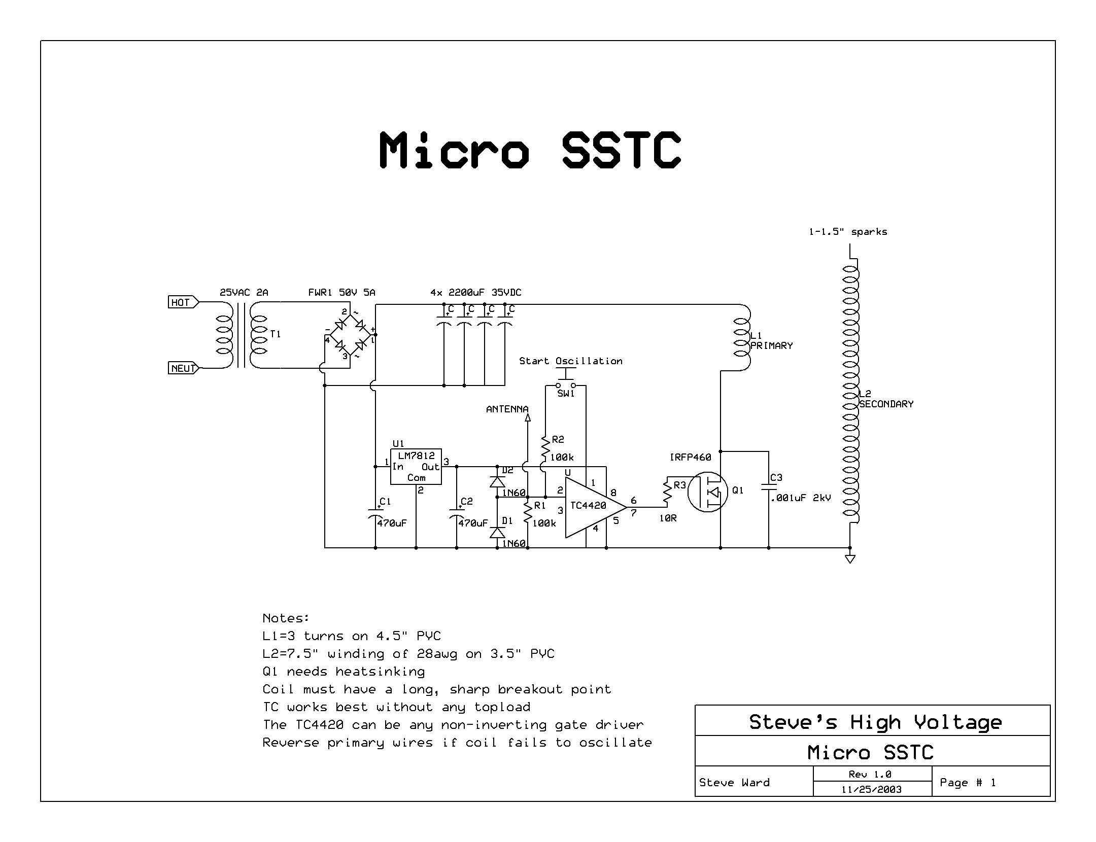 SSTC6 on simple amplifier schematics